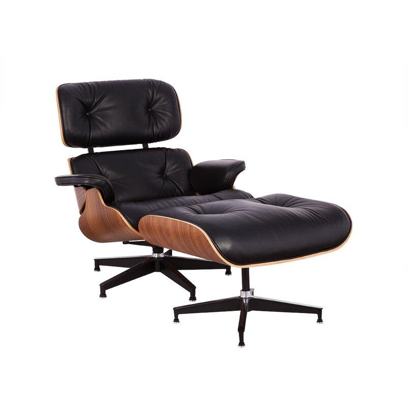 Superb Schwab Swivel Lounge Chair And Ottoman (Set Of 2) By Orren Ellis