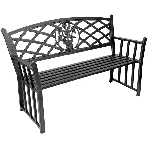 Bouquet Metal Garden Bench by Jordan Manufacturing