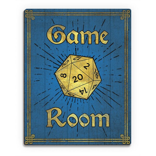 Wood Slats Game Room Painting Print on Plaque by Click Wall Art