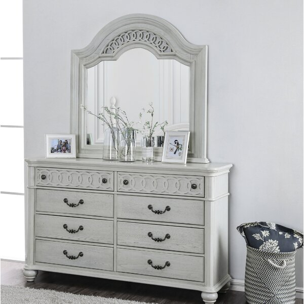 Aubrie 8 Drawer Double Dresser With Mirror by Rosdorf Park