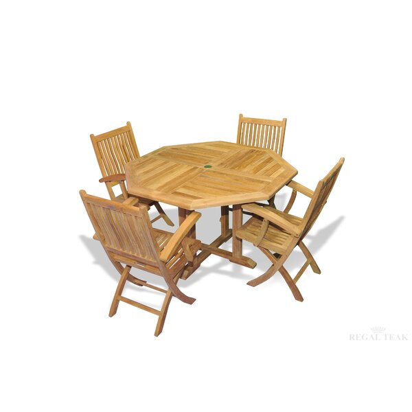Rossendale 5 Piece Teak Dining Set by Red Barrel Studio