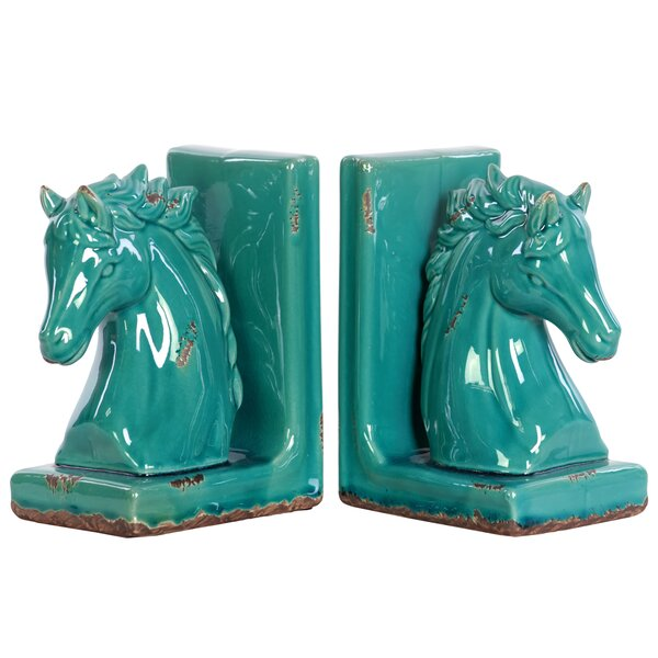 Stoneware Horse Bookend (Set of 2) by Urban Trends