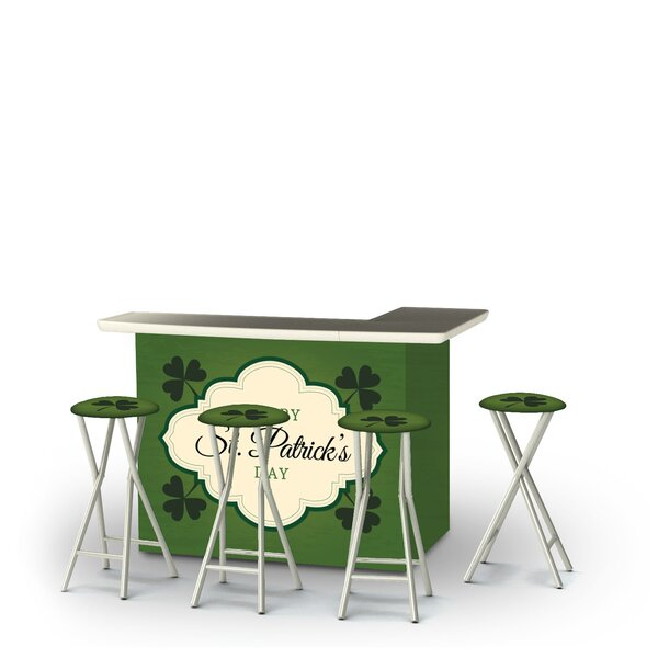 Ahmeek St Patricks Day Old Irish Beer 5-Piece Bar Set by East Urban Home