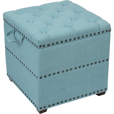 Awesome Winston Porter Sierra Storage Ottoman Upholstery Blue Squirreltailoven Fun Painted Chair Ideas Images Squirreltailovenorg