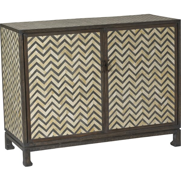 Iberia Herringbone 2 Door Accent Cabinet by Bloomsbury Market
