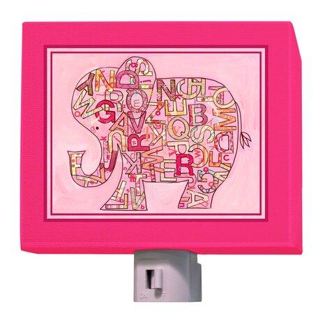 Pink Alphabet Elephant Night Light by Oopsy Daisy