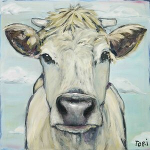 'When Cows Fly' Painting Print on Wrapped Canvas by Laurel Foundry Modern Farmhouse