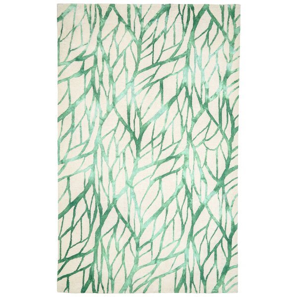 Temple Hand-Tufted Green/Beige Indoor/Outdoor Area Rug by Bay Isle Home