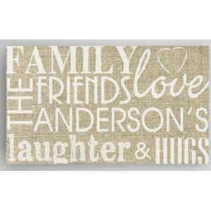 Family and Friends Sign Textual Art on Canvas by JDS Personalized Gifts