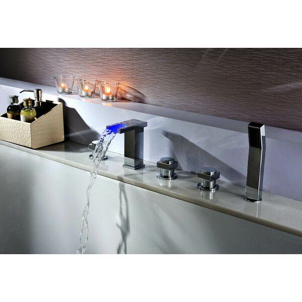 Deck Mount Tub Faucet Set with Handheld Sprayer by Sumerain International Group