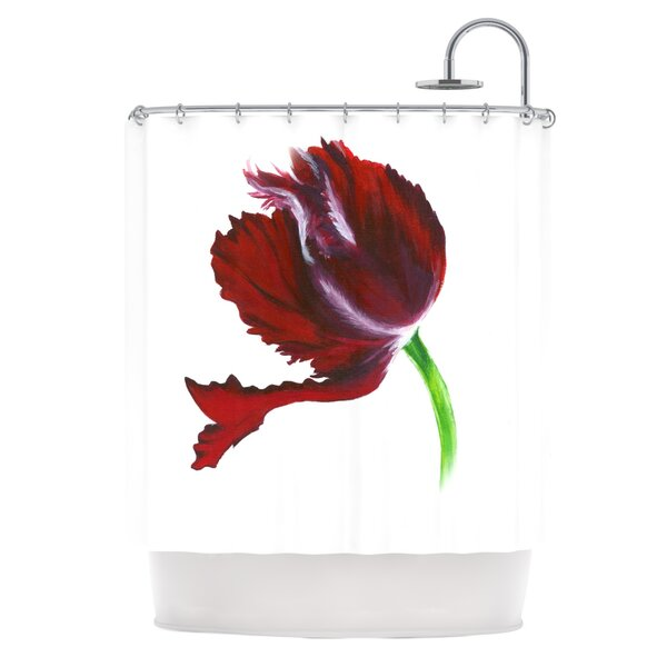 Dark Purple Tulip Shower Curtain by KESS InHouse