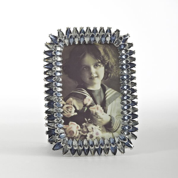 Jeweled Sapphire Picture Frame by Saro