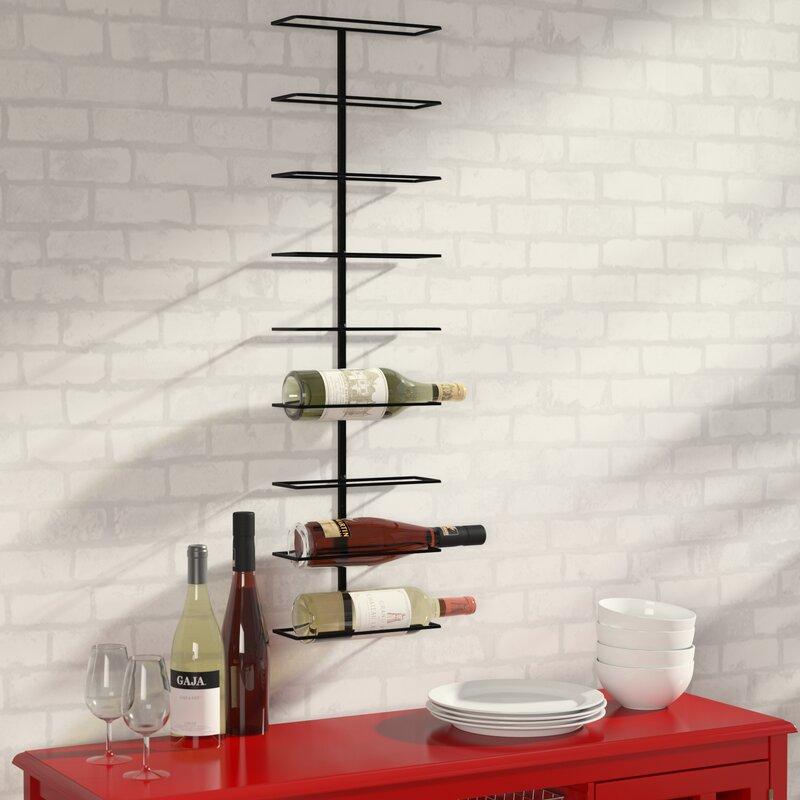 Good Paige 9 Bottle Wall Mounted Wine Rack