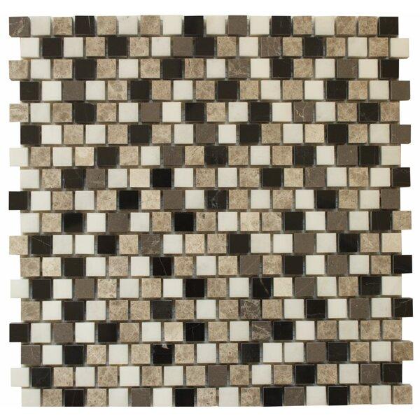 0.63 x 0.63 Marble Mosaic Tile in Levanzo by Ephesus Stones