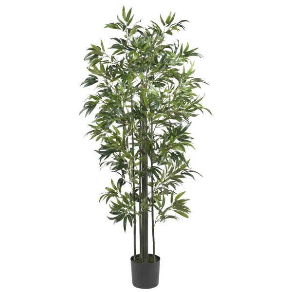 Bamboo Tree with Pot by Nearly Natural