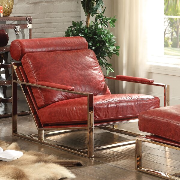 Quinto Leather Ottoman By A&J Homes Studio