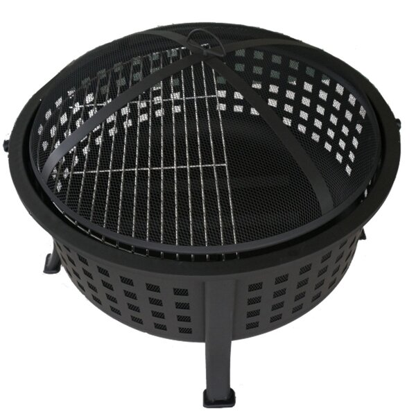 Basket Weave Steel Wood Burning Fire pit by DDI