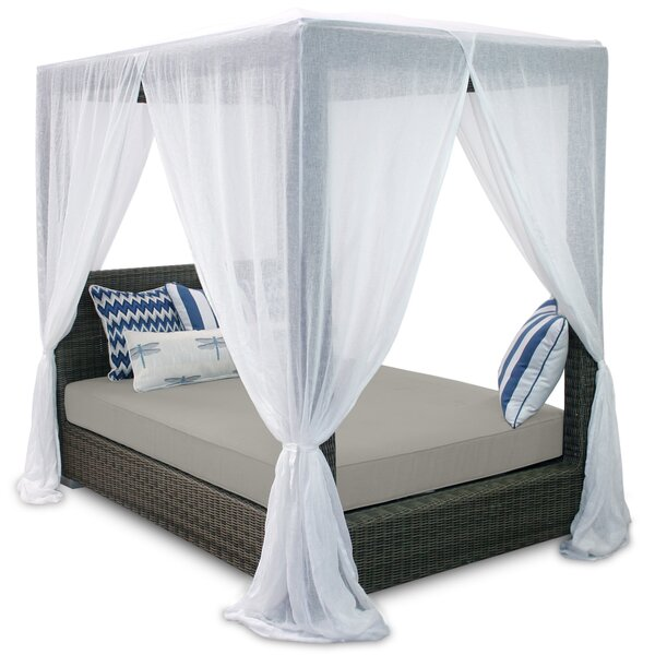 Palisades Queen Canopy Bed with Cushions by Patio Heaven