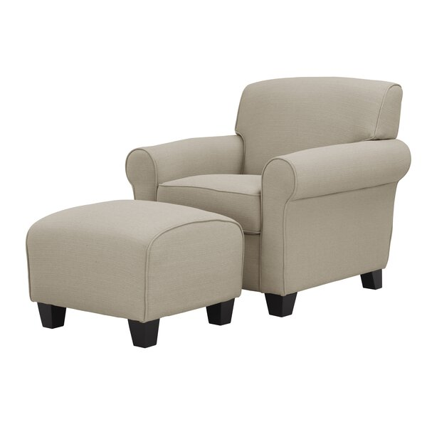 Oldbury Armchair and Ottoman by Alcott Hill
