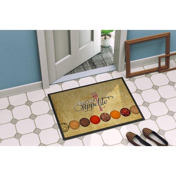 Bon Appetite and Spices Non-Slip Indoor Door Mat