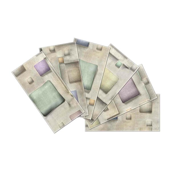 Crystal Skin 3 x 6 Glass Subway Tile in Gray/Violet by SkinnyTile