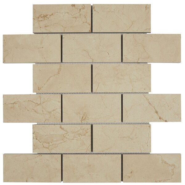 Florentine 12 x 13 Ceramic Mosaic Tile in Marfil by Daltile