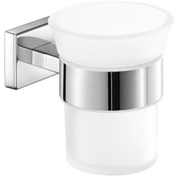 Snead Wall Frosted Glass Toothbrush & Tumbler Holder by Orren Ellis