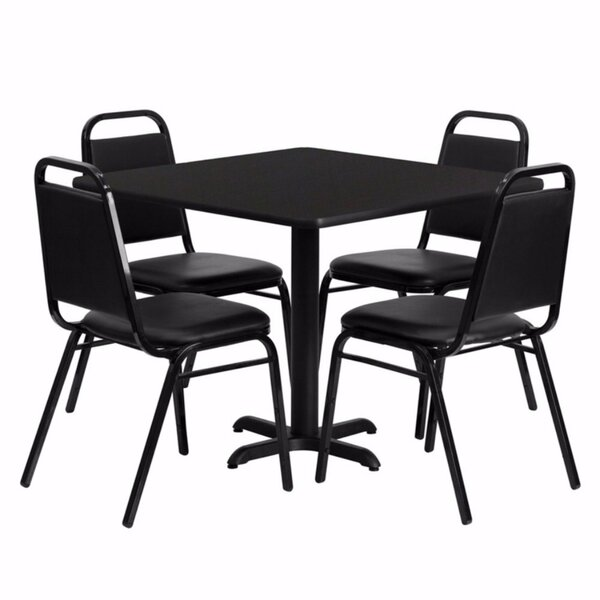 Uriah 5 Piece Dining Set by Winston Porter