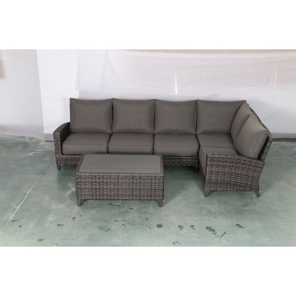 Rebeca 6 Piece Sectional Seating Group with Cushions by Bayou Breeze