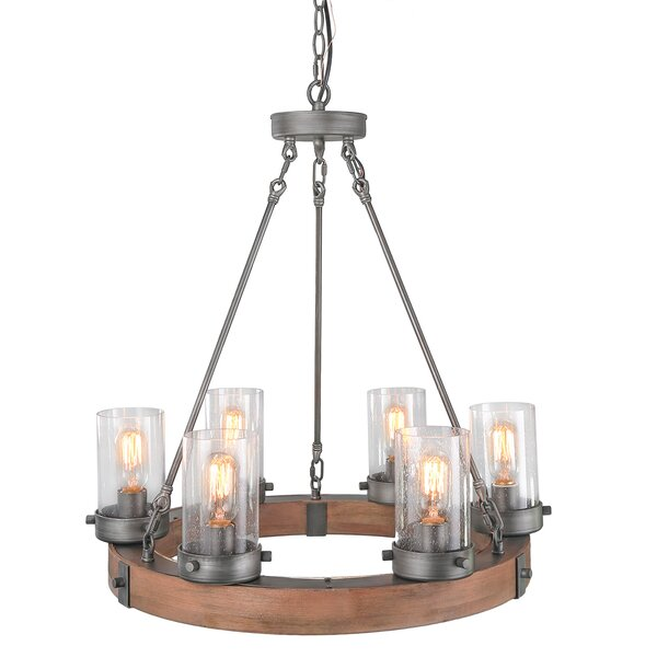 Woodbluff 6 - Light Unique Globe Chandelier By Gracie Oaks