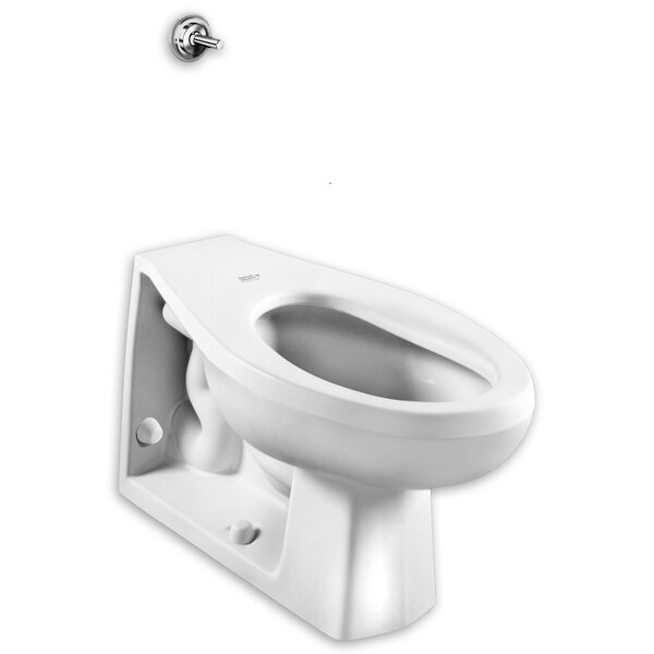 Elongated Neolo Flush Valve 1.6 GPF Elongated Toilet Bowl by American Standard