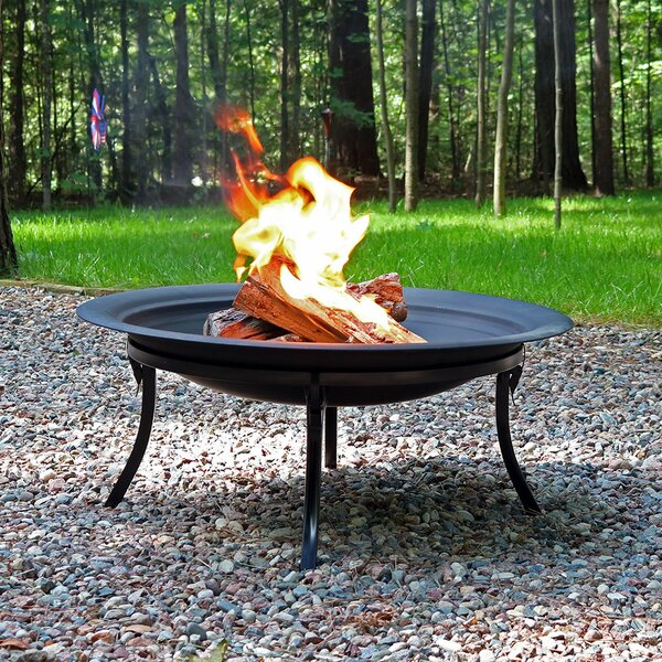 Nikita Steel Fire Pit by Charlton Home