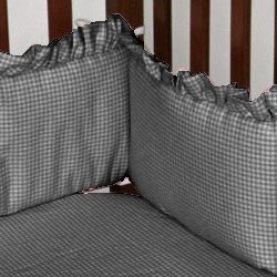Gingham Crib Bumper by aBaby