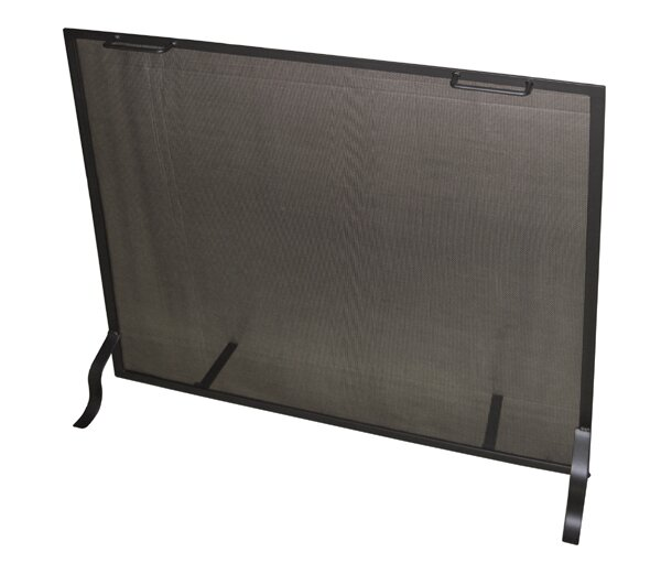 Single Panel Steel Fireplace Screen By Master Flame.