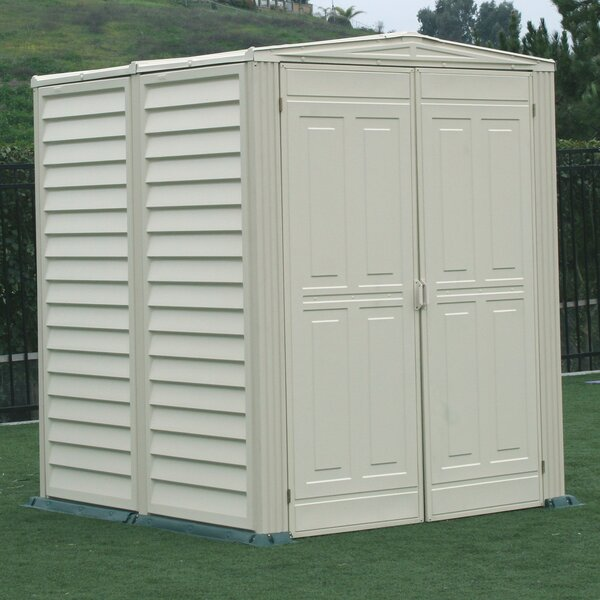 duramax yardmate vinyl shed 5 ft 6 in w x 5 ft 6 in d plastic storage shed reviews wayfair - Garden Sheds Vinyl
