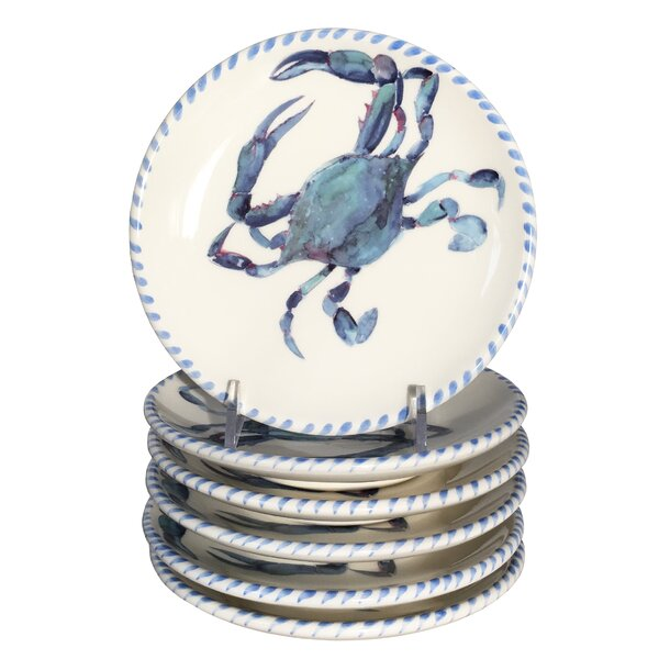 Crab Small 5.75 Bread and Butter Plate (Set of 6) by Abbiamo Tutto