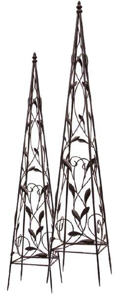 2 Piece Metal Obelisk Trellis Set by Mr. MJs