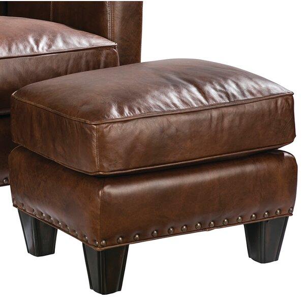 Navi Leather Ottoman by Loon Peak