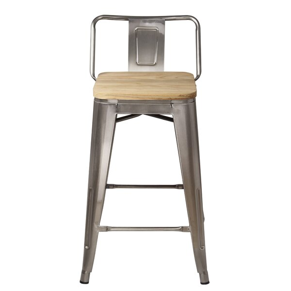Mcraney Low Back 24 Bar Stool by Williston Forge