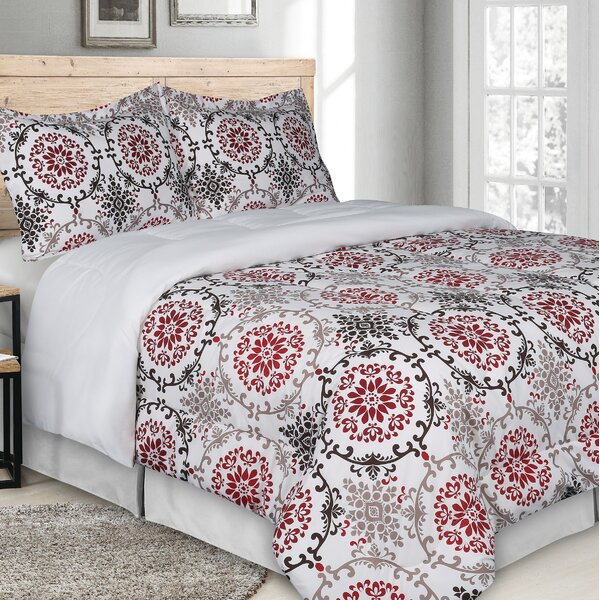 Poling Goose Down Alternative Rich Printed Comforter Set by World Menagerie