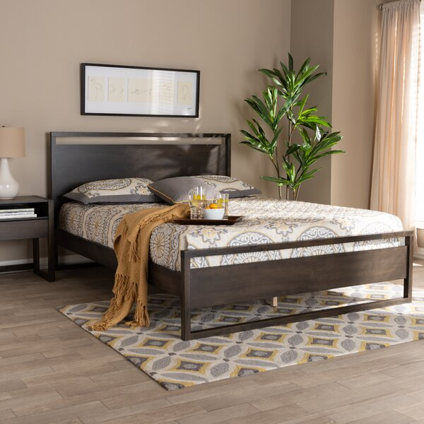 Dumais Modern and Contemporary Wood Queen Platform Bed by Ivy Bronx