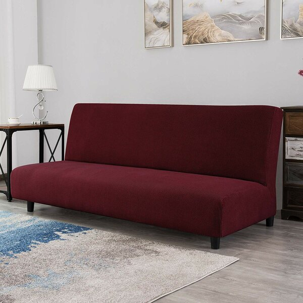 Ilsswe Elastic Armless Box Cushion Futon Slipcover By Winston Porter