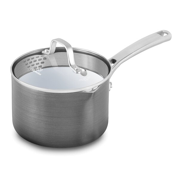 Classic Ceramic Saucepan with Lid by Calphalon