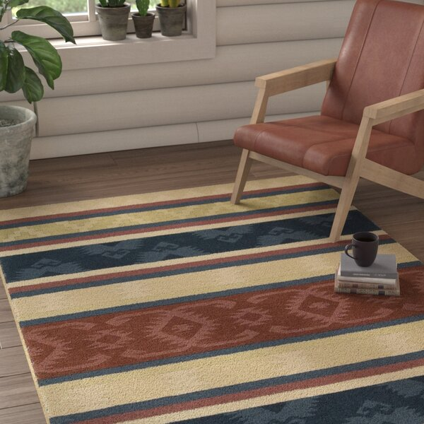 Atna Red/Blue Area Rug by Loon Peak