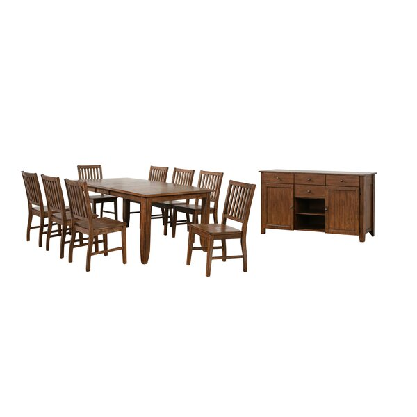 Huerfano Valley 10 Piece Extendable Dining Set by Loon Peak
