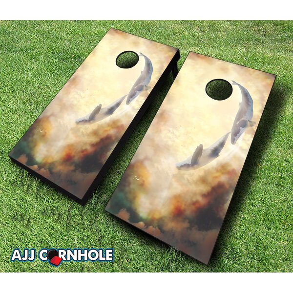 Whale Be Friends Forever Cornhole Set by AJJ Cornhole