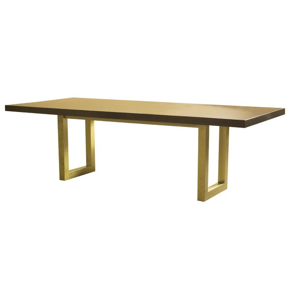 Modern Burnished Dining Table By Brayden Studio 2019 Sale