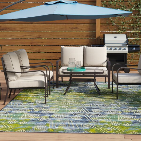 Jarry 4 Piece Outdoor Conversation Set With Cushions By Ebern Designs by Ebern Designs Today Sale Only