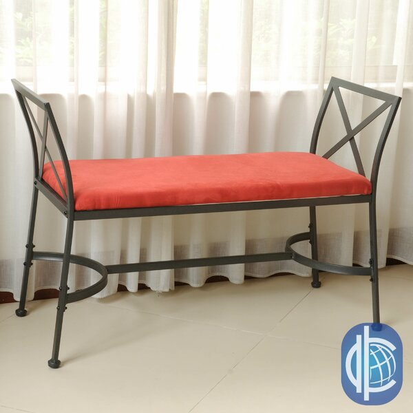 Saundra Upholstered Bench by Fleur De Lis Living