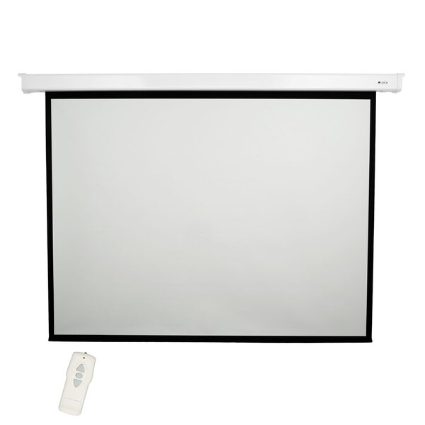 High Contrast Grey 84 diagonal Electric Projection Screen by Loch